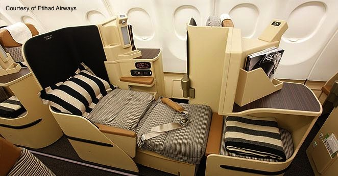 Etihad Airways Business Class on Jet Airways