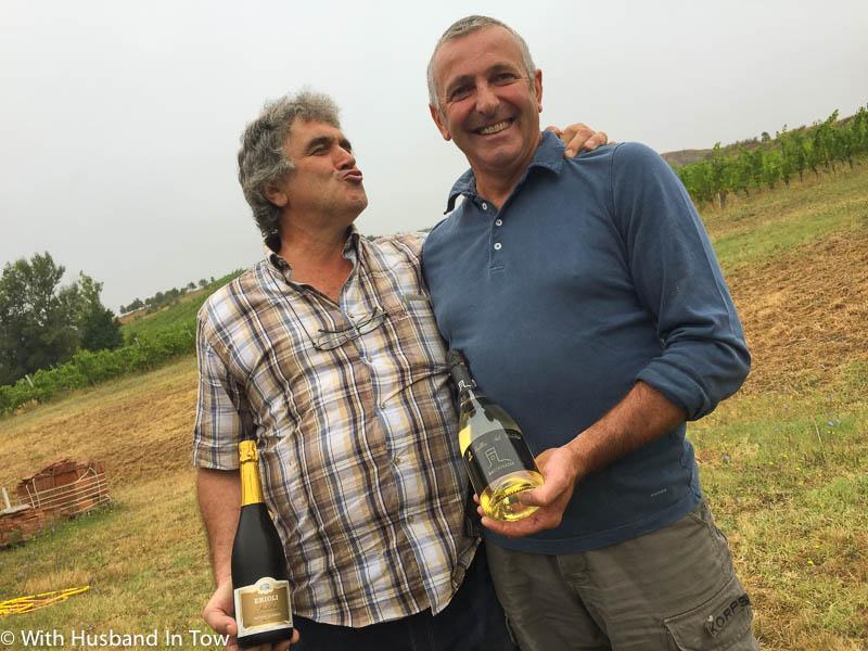 Italian sparkling wine winemakers Alessandro and Girogio