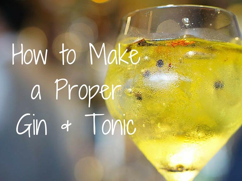 A Proper Gin and Tonic – Ritz Bar Lisbon
