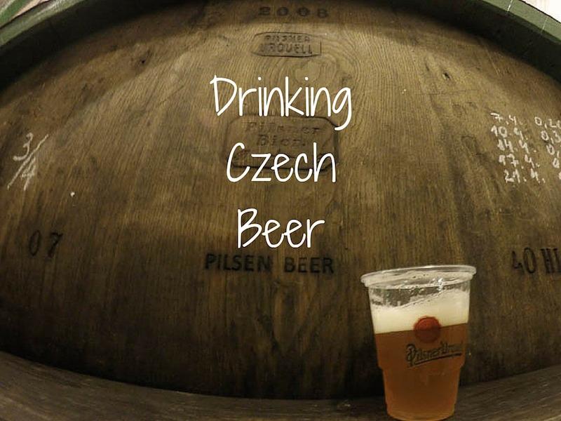 Drinking Czech Beer