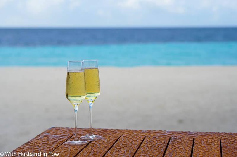 beach front villa maldives
