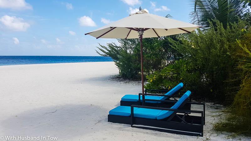 beach front villa in Maldives