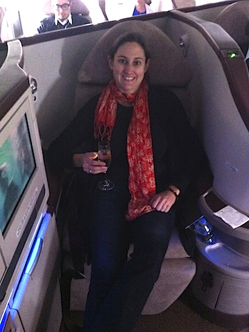 Etihad Business Class Jet Airways