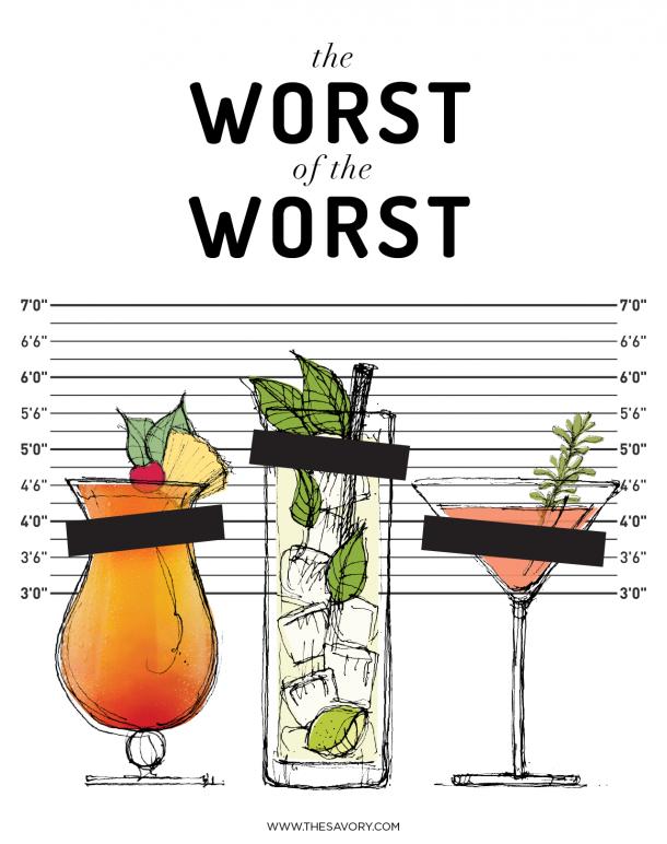10 Worst Cocktails