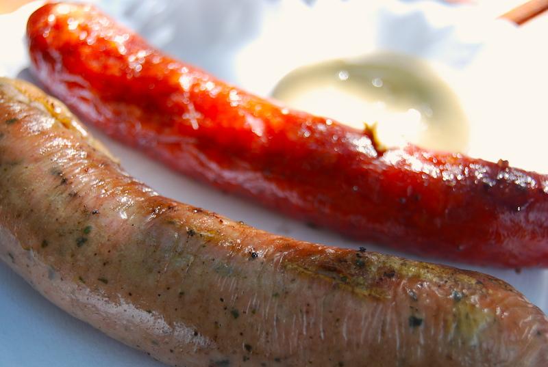 Prague street food - sausages