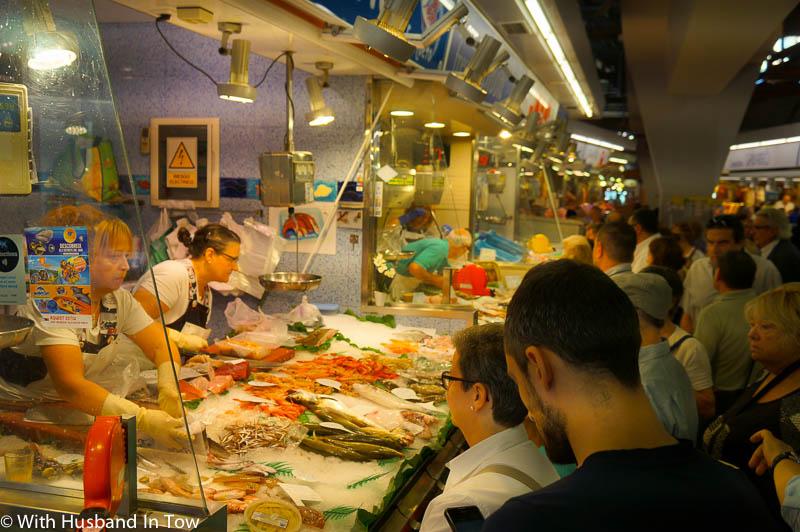 Barcelona Market stalls - seafood