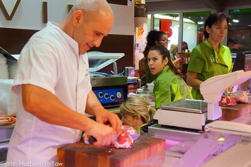 Barcelona butchers at Santa Catarina