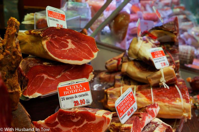 jamon in Barcelona at Santa Caterina