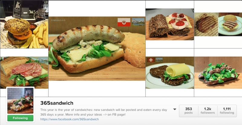 365 Sandwich Instagram