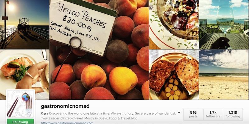 Gastronomic Nomad Instagram