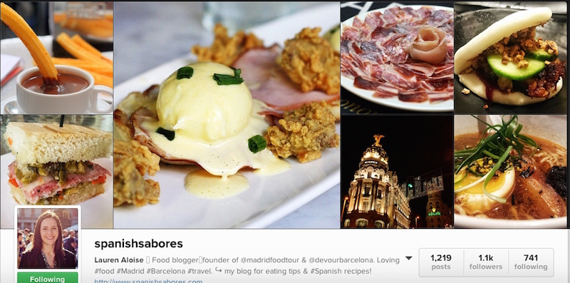 Spanish Sabores Instagram