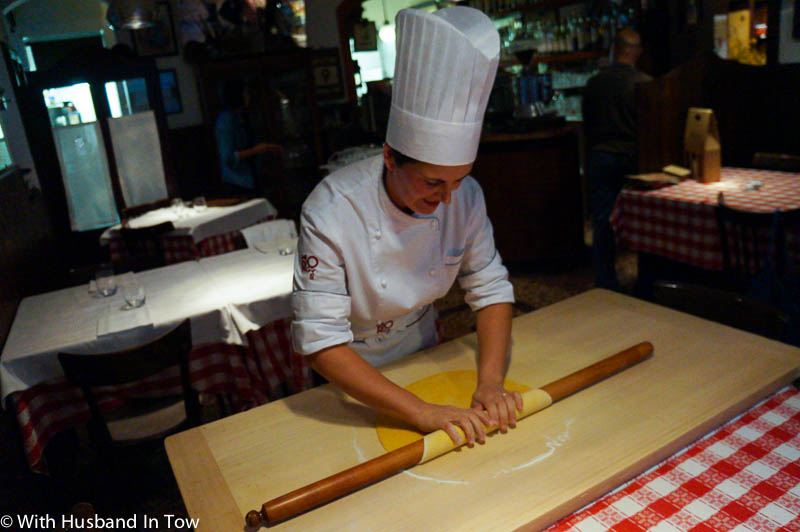 learning to make pasta in Italy