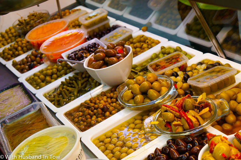 Barcelona Tapas - Olives at the market