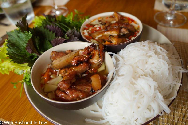 Hanoi street food - bun cha