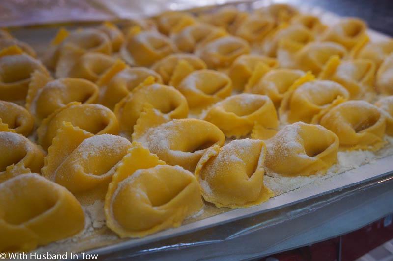 Fresh italian pasta at the Modena market