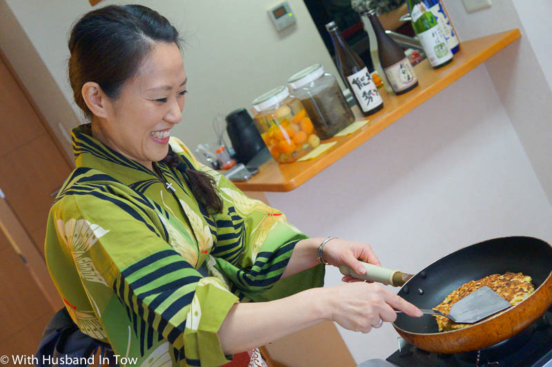 How To Make Okonomiyaki in a Japanese cooking class