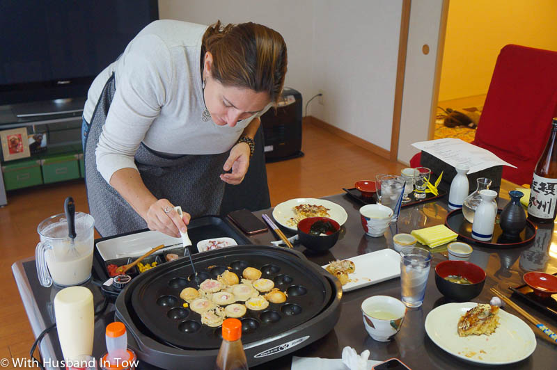 How To Make Takoyaki in a Japanese cooking class