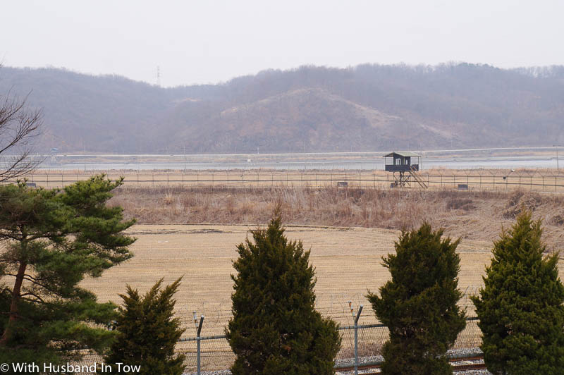 Korea DMZ view into North Korea