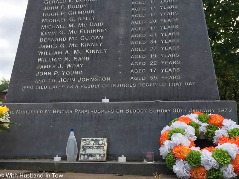 Sunday Bloody Sunday Memorial in Northern Ireland