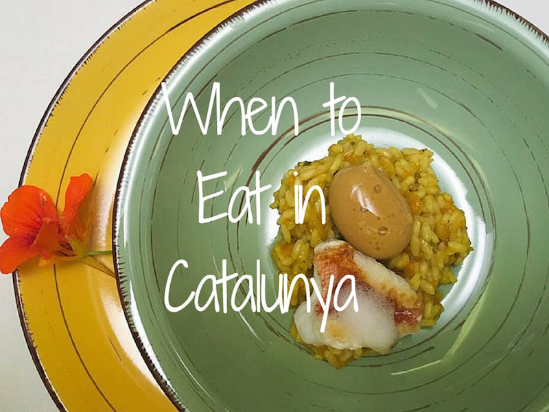 When to Eat in Catalunya