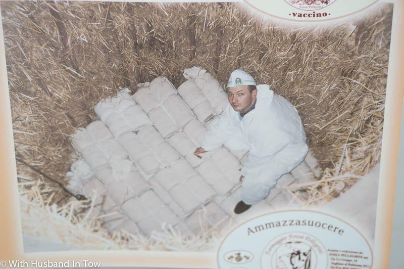 Cave cheese is also known as formaggio di fossa at Fossa Pellegrini