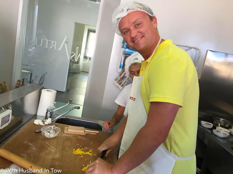 Learning how to make pasta at Casa Artusi