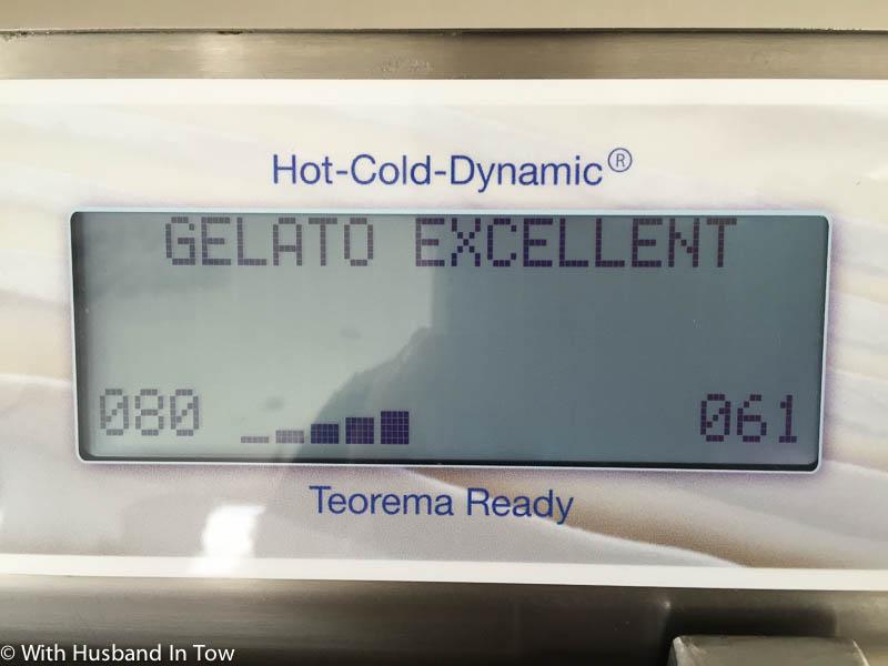 "The gelato I made was indeed ""excellent"" at Carpigiani Gelato University"