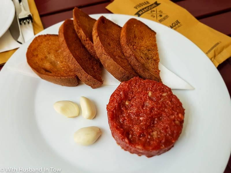 Beef Steak Tartare - Czech traditions