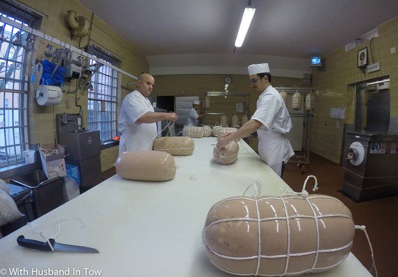 Touring Pasquini one of the top Mortadella producers in Italy
