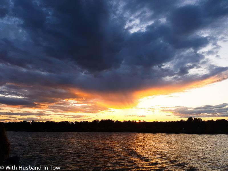 French River Cruise sunset