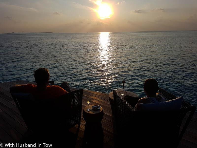 Sunset in the Maldives at Hurawalhi Resort