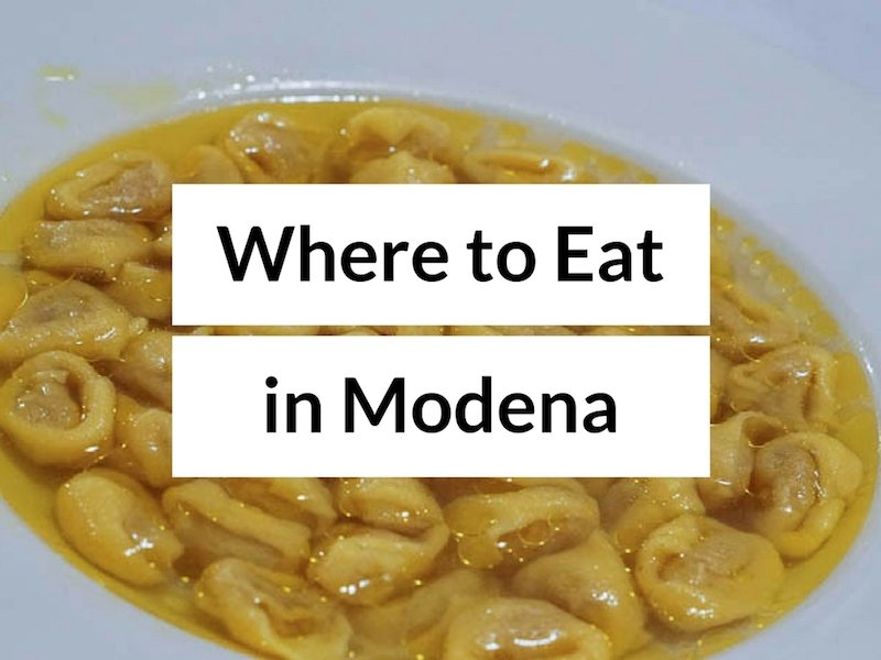 Where to Eat in Modena