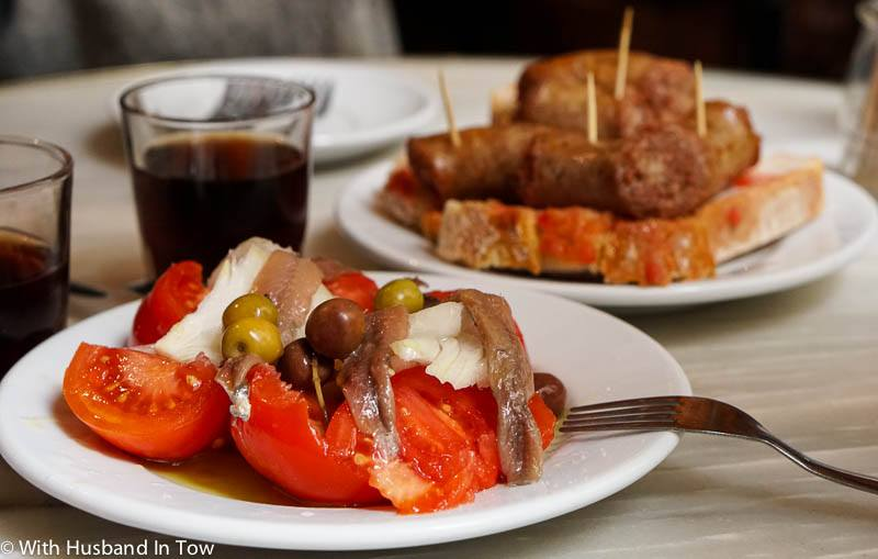 Barcelona Spain food anchovy
