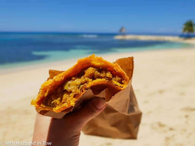 Jamaican meat pie - Moonchies at Half Moon Bay