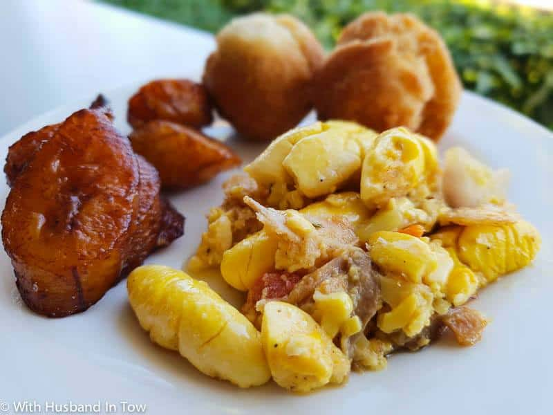 Ackee and Saltfish - traditional Jamaican food