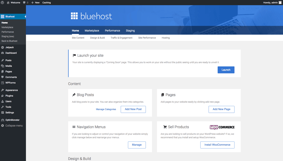 Wordpress Bluehost Starting a Travel Blog