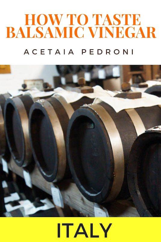 Aceto Balsamico di Modena at Acetaia Pedroni