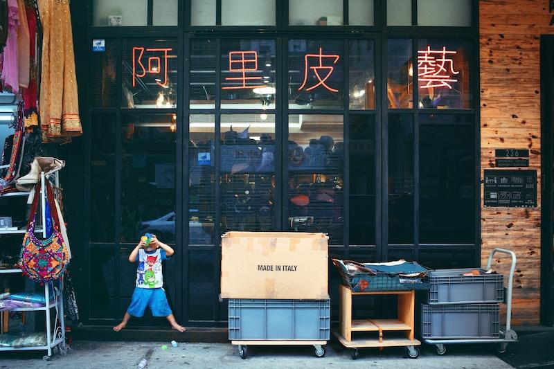 Sham Shui Po Shopping District Hong Kong