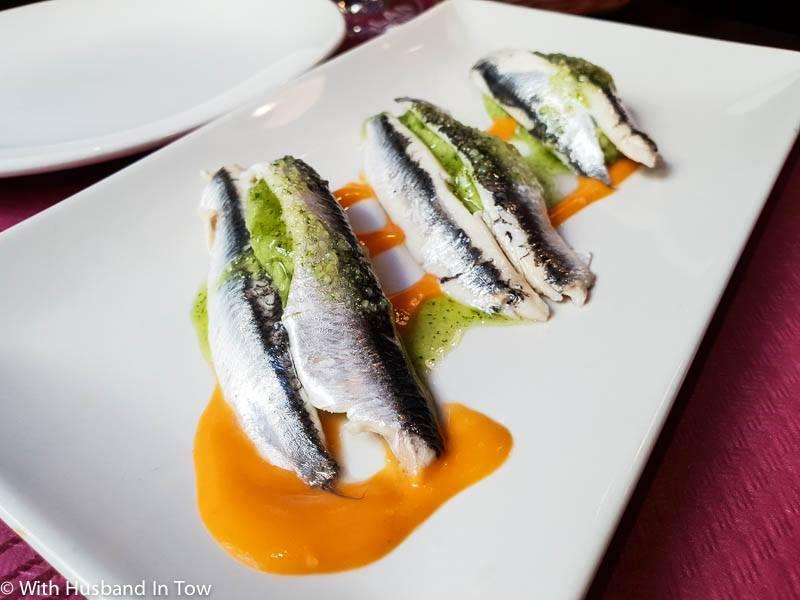 Malaga seafood - Boquerones