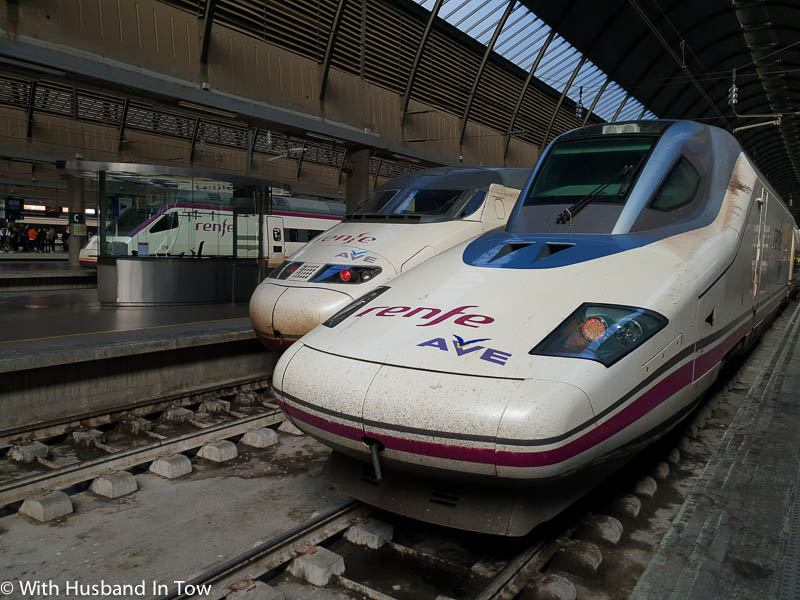 spain rail system - high speed train in Spain