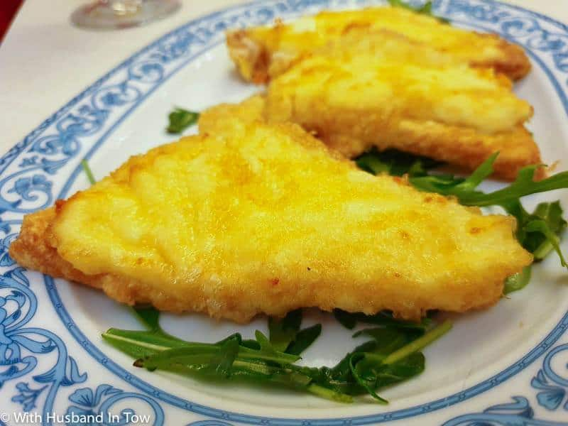 Eating Mozzarella in Carrozza in Naples