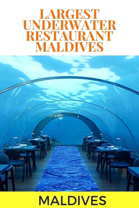 5.8 Restaurant Review – An Underwater Restaurant In The Maldives