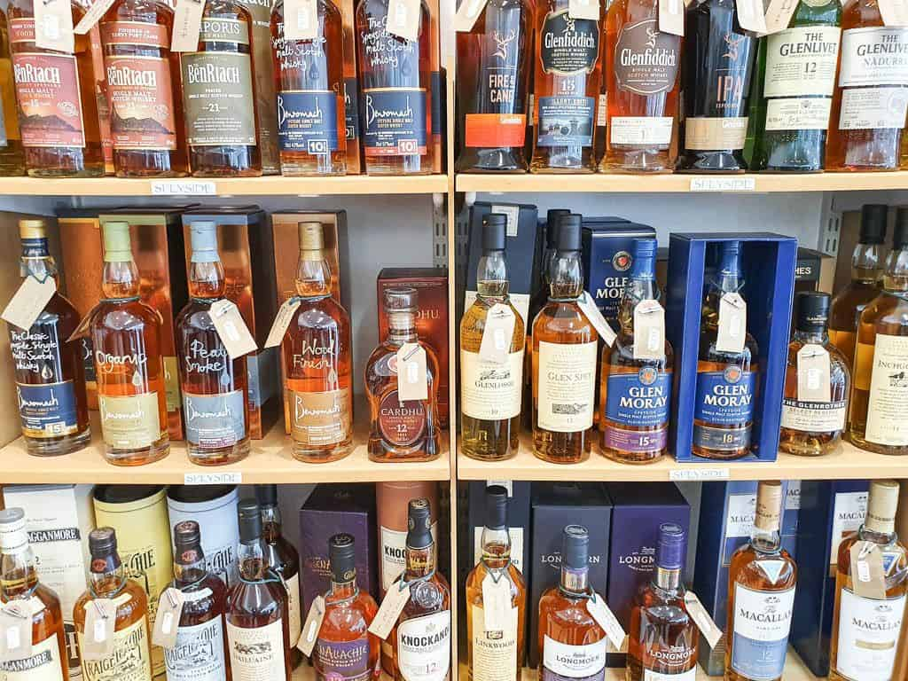 shops on the Malt Whisky Trail